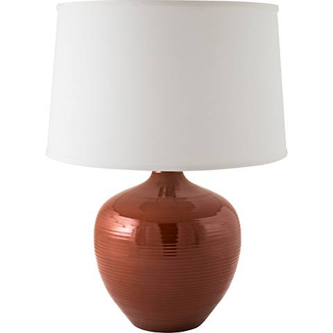 RiverCeramic® Bean Pot Cayenne Table Lamp