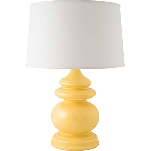 RiverCeramic® Cottage Gloss Straw Yellow Table Lamp