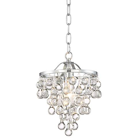 """Conley 9 3/4"""" Wide Chrome and Clear Glass Mini Pendant"""