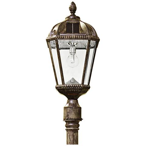 "Royal Bulb 87""H Bronze Solar LED Outdoor Post Light"