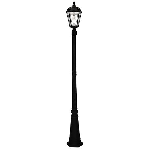 "Royal Bulb 87"" High Black Solar LED Outdoor Post Light"