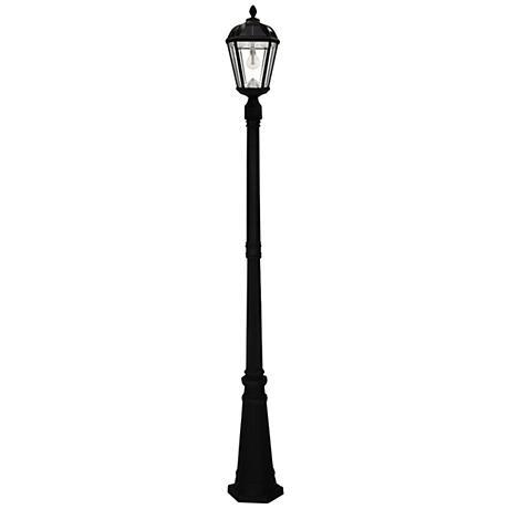 "Royal Bulb 87"" High Black Solar LED Outdoor Post Light"
