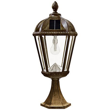 "Royal Bulb 23""H Bronze Solar LED Outdoor Pier-Mount Light"