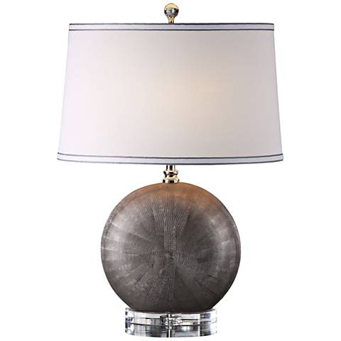 Uttermost Liadan Antiqued Metallic Silver Ceramic Table Lamp