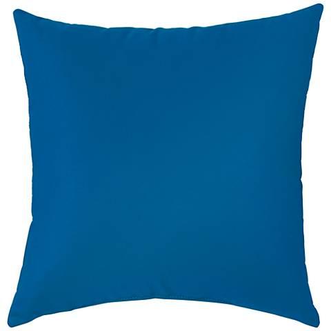 Pacific Blue Throw Pillows : Sunbrella Pacific Blue 18