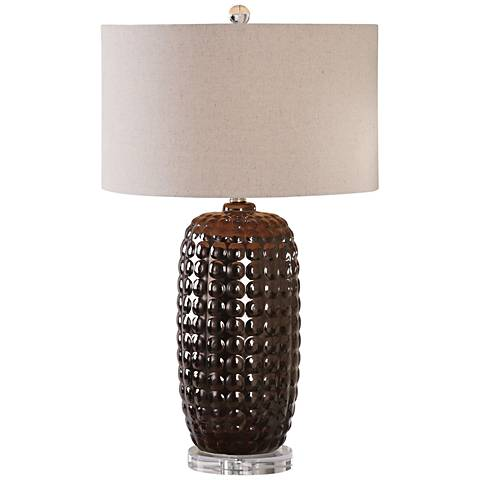 Uttermost Mazur Metallic Bronze Corn Cob Ceramic Table Lamp