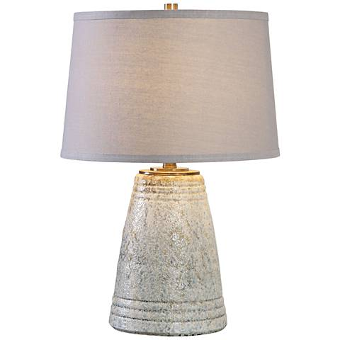 Uttermost Cholet Distressed Aged Ivory Blue Table Lamp