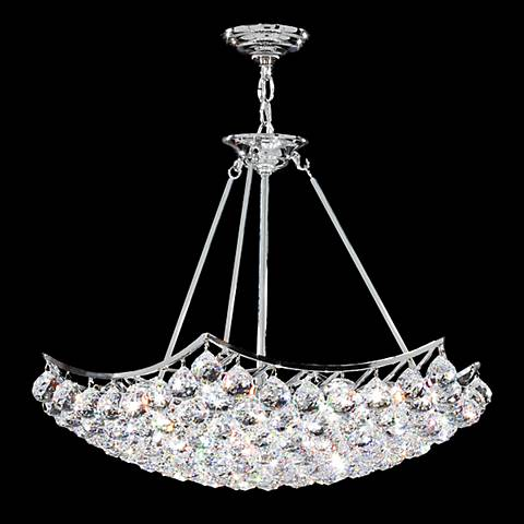 "James Moder Cascade 26"" Wide Silver Crystal Chandelier"
