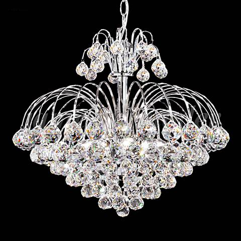 "James Moder Jacqueline 20"" Wide Silver Crystal Chandelier"