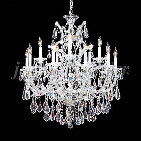 "Maria Theresa Royal 31""W Silver 16-Light Crystal Chandelier"