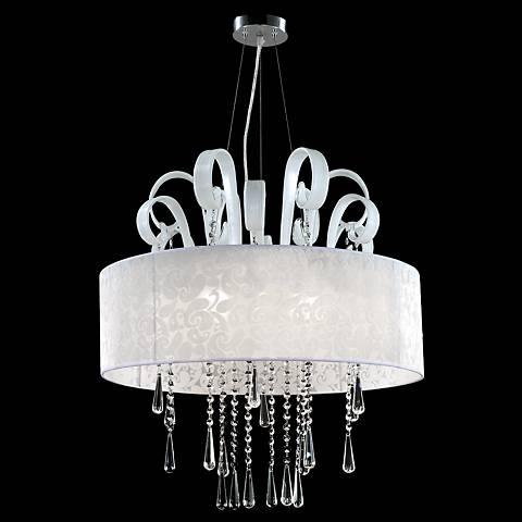 """James Moder Contemporary 26""""W Silver Pendant Light"""