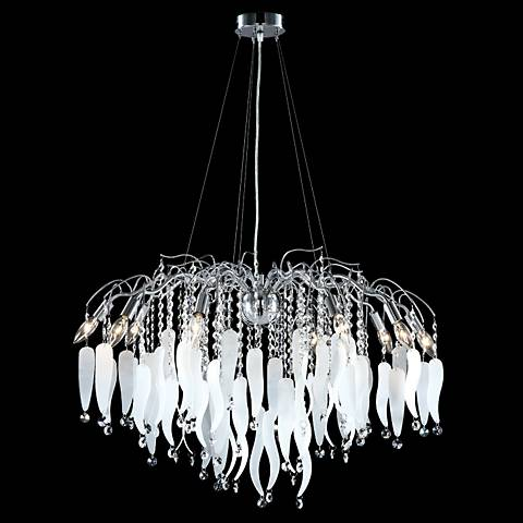 "James Moder Contemporary 31"" Wide Silver Chandelier"