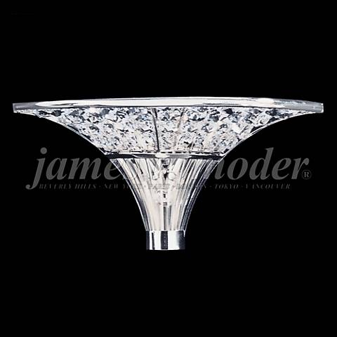 "James Moder Contemporary 6"" High Silver Crystal Wall Sconce"