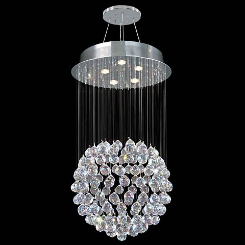 "James Moder Crystal Rain 18"" Wide Silver 5-Light Pendant"