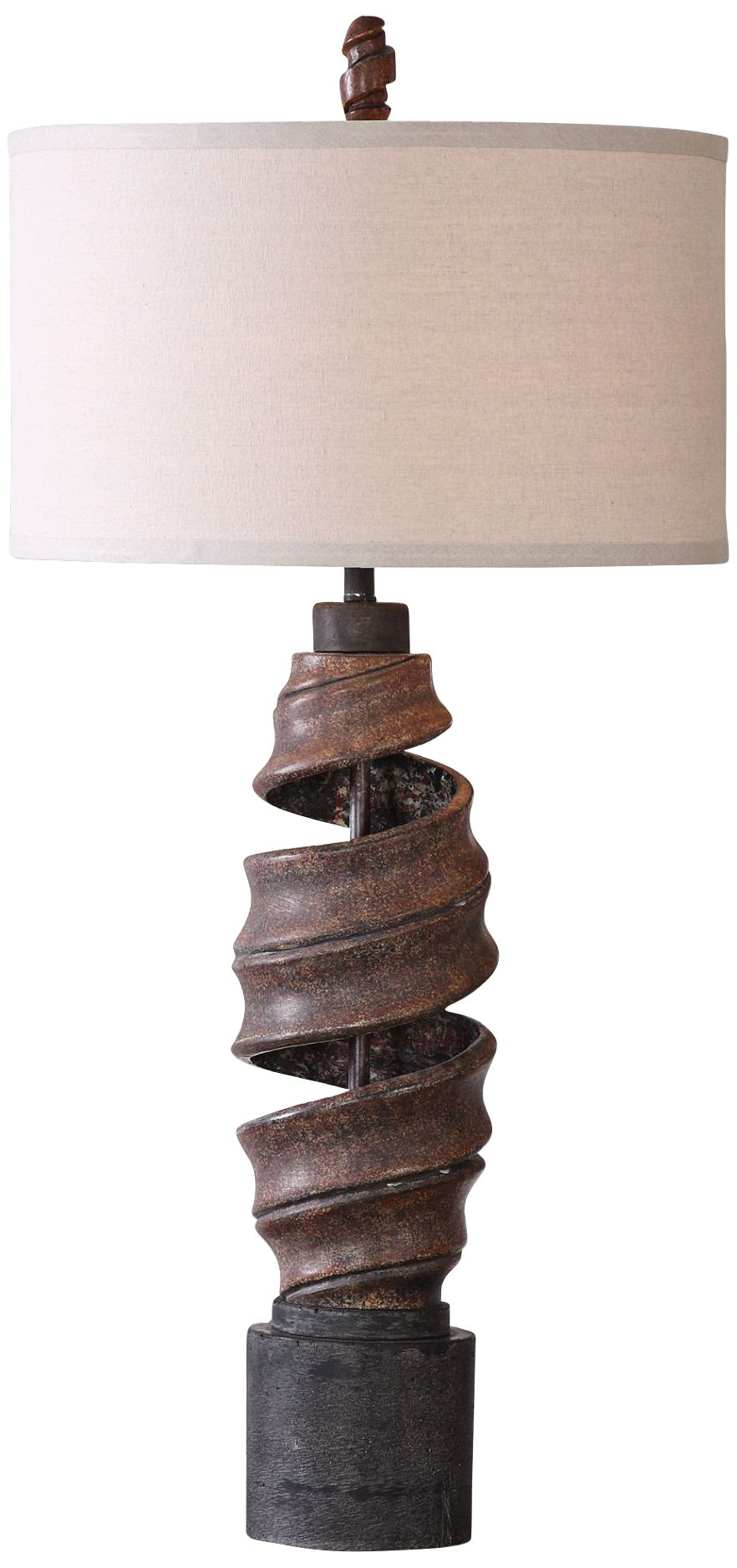 uttermost abrose aged rust natural twist concrete table lamp - Uttermost Lamps