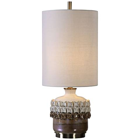 Uttermost Elsa 2-Tone Rust and Gloss Ivory Ceramic Table Lamp