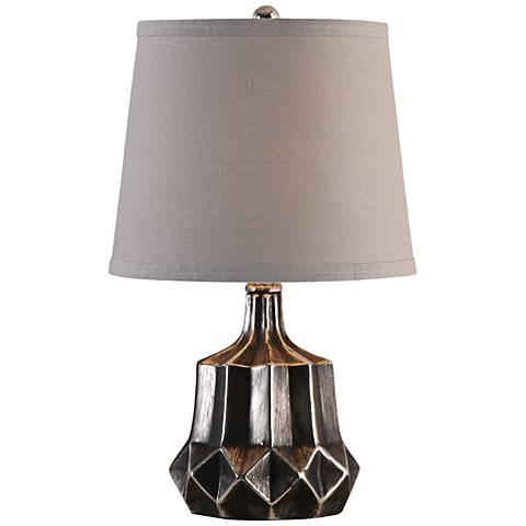 "Uttermost Felice Charcoal Metallic 18"" High Table Lamp"