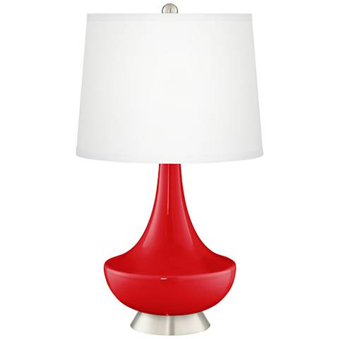 Bright Red Gillan Glass Table Lamp