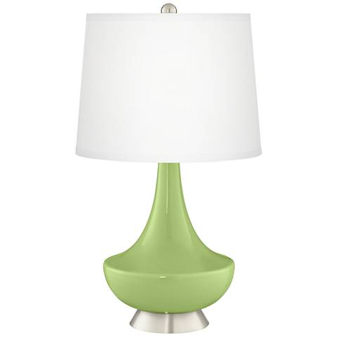 Lime Rickey Gillan Glass Table Lamp