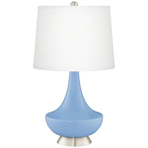 Placid Blue Gillan Glass Table Lamp