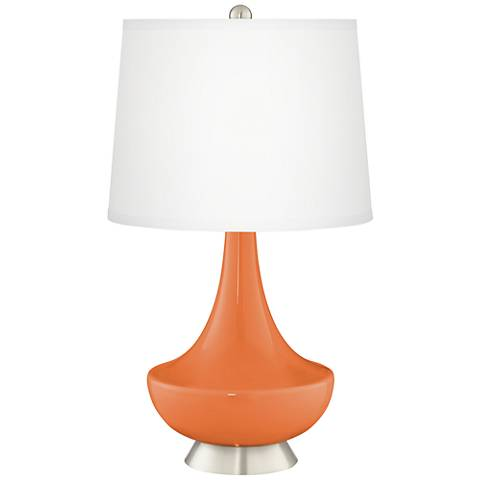 Celosia Orange Gillan Glass Table Lamp
