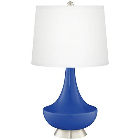 Dazzling Blue Gillan Glass Table Lamp