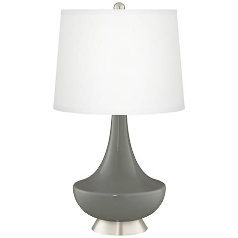 Gauntlet Gray Gillan Glass Table Lamp