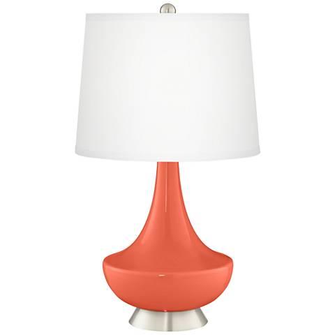 Daring Orange Gillan Glass Table Lamp