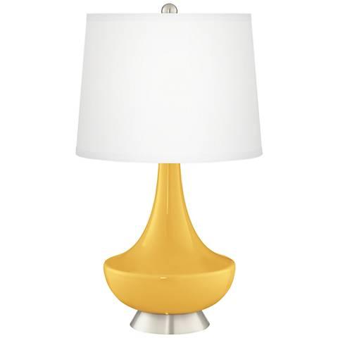 Goldenrod Gillan Glass Table Lamp