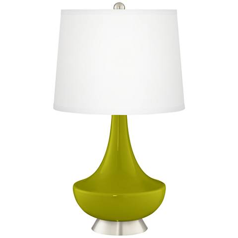 Olive Green Gillan Glass Table Lamp