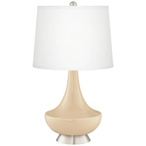 Colonial Tan Gillan Glass Table Lamp