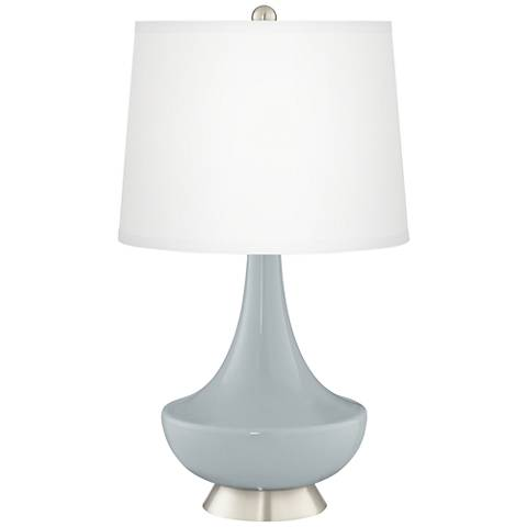 Uncertain Gray Gillan Glass Table Lamp