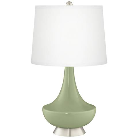 Majolica Green Gillan Glass Table Lamp