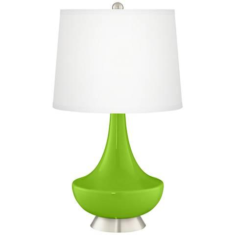 Neon Green Gillan Glass Table Lamp