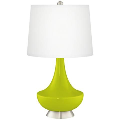 Pastel Green Gillan Glass Table Lamp