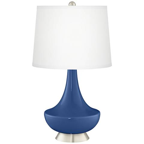 Monaco Blue Gillan Glass Table Lamp