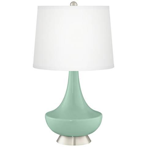 Grayed Jade Gillan Glass Table Lamp