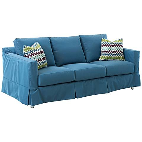 Klaussner Aspen Blue Fabric Outdoor Sofa