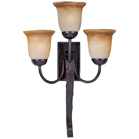 Aspen Collection Swirl Glass Wall Sconce