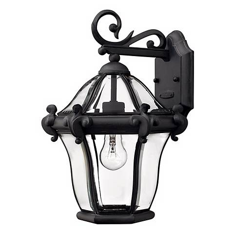 "Hinkley San Clemente 14 1/2"" High Black Outdoor Wall Light"