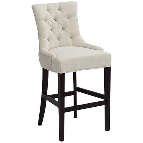 "Petra 30"" Tufted Upholstered Chenille Bar Stool"