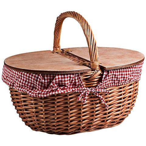Country Natural Willow Picnic Basket