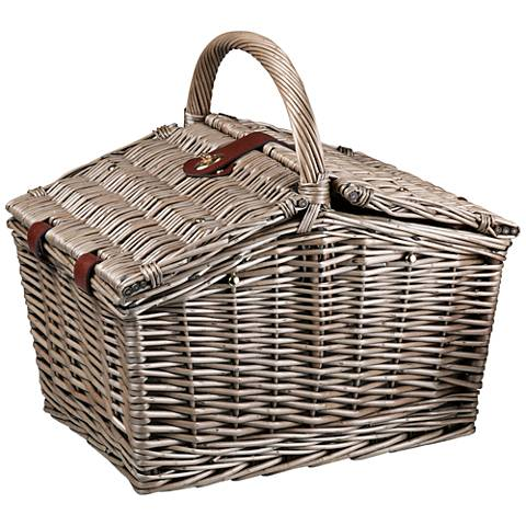 Piccadilly Double-Lid Willow Picnic Basket