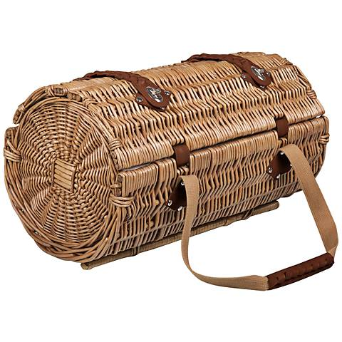 Verona Adeline Two-Lid Willow Picnic Basket