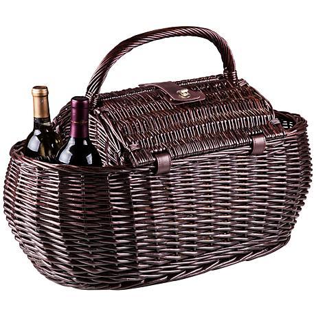 Gondola Pixels Dark Willow Picnic Basket