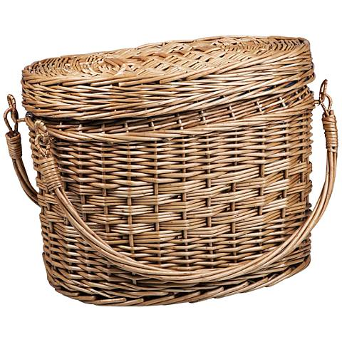 Romance Adeline Chestnut Brown Willow Picnic Basket