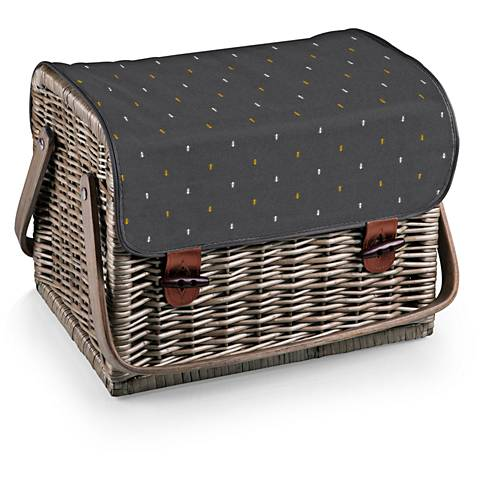 Kabrio Anthology Gray Willow Wine and Cheese Picnic Basket