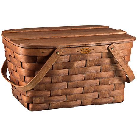Prairie Wood Willow Picnic Basket