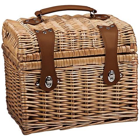 Napa Natural Willow Picnic Basket