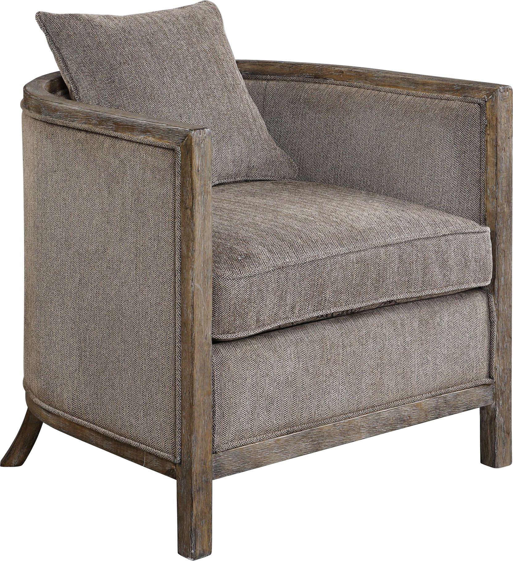 uttermost viaggio gray chenille accent chair